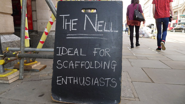 Nell Gwynne pub, Strand, London - ideal for scaffolding enthusiasts