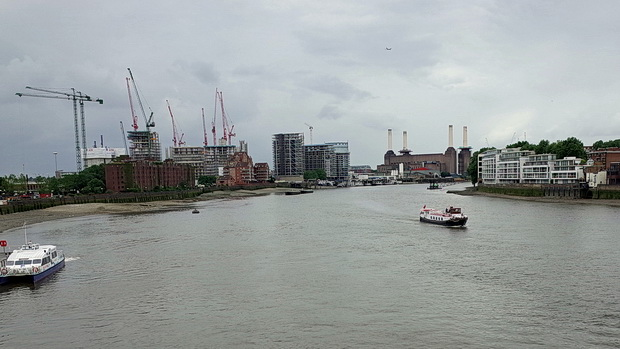 A short walk from Vauxhall tube station across the Thames to Blackfriars Bridge, London