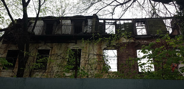 The abandoned townhouses of Admiral's Row, Brooklyn Navy Yard, New York