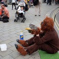 London's worst street performers do their stuff in - Trafalgar Square