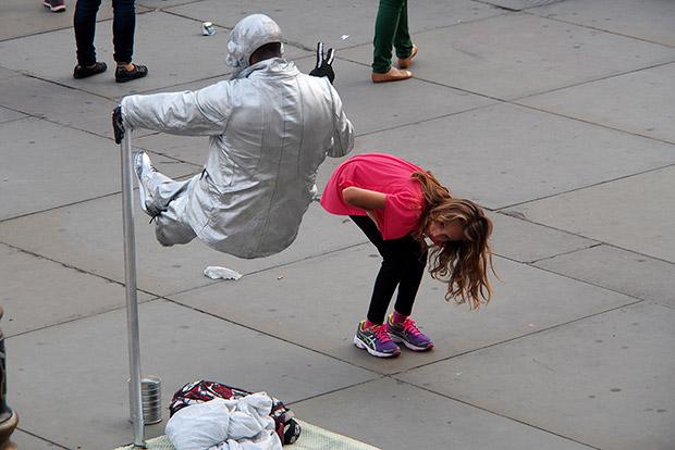 London's worst street performers do their stuff in Trafalgar Square