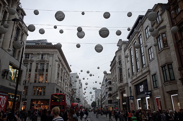 Baubles in October - the big Christmas cash-in kicks off in central London