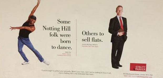 Looking like something straight out of the 1970s is the offensivepiece of advertising byestate agents Strutt & Parker, as seen on the London Underground today. Apparently, in Notting Hill, black […]