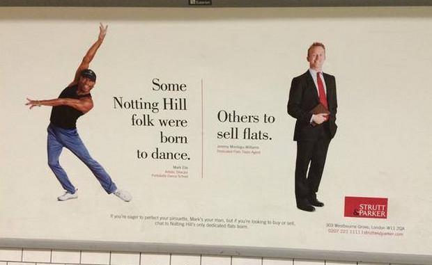 """Utterly moronic racist nonsense"" - advertising by Notting Hill estate agents Strutt & Parker"