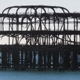 It's heartbreaking to see the skeletal remains of the once-grand Brighton West Pier slowly rusting into the English Channel.