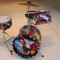 Bash! Thwack! It's a Dennis The Menace drum kit
