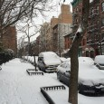 The predicted Biblical winter storms never arrived, but a deathly hush descended over New York today as the streets lay empty under a covering of snow.