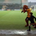 Spytty the Dog, Newport County's strange emo paedobear/Deputy Dawg club mascot