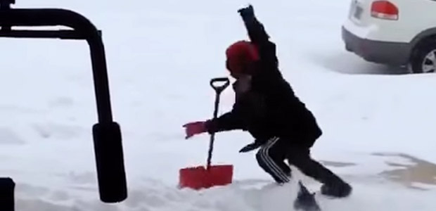 I can't take my eyes off this video of a man nearly falling over in the snow
