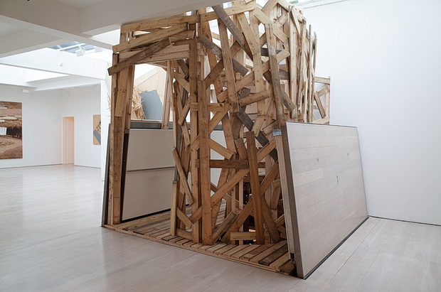 A wooden wonderland: Tadashi Kawamata Stairs at the Annely Juda Fine Art, Mayfair, London