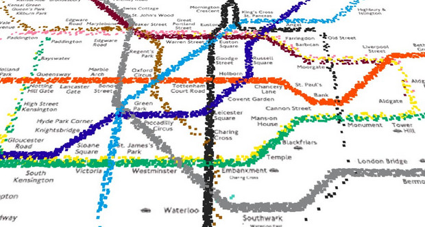 A day on London's Underground animated in a fascinating video
