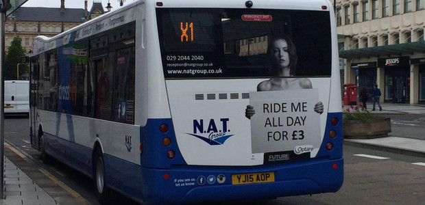 Twitterstorm erupts after Cardiff bus service launches with spectacularly bad sexist advertising