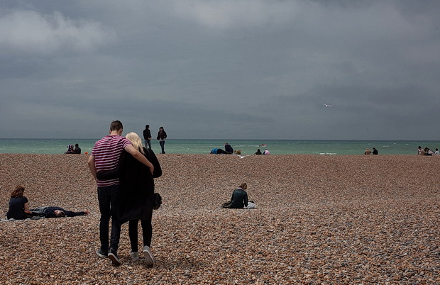 Brighton seagulls, skinheads, seaside and sun, photos from the the south coast resort