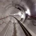 A drone's eye view of Crossrail's completed rail tunnels