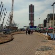 The Brighton i360 tower, the controversial 'replacement' for the seaside town'smuch-loved but now-abandoned West Pier can be seen under construction in these recent photos.