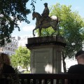 A statue made of soap: Duke of Cumberland erodes away in Cavendish Square, London