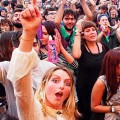 Faces in the crowd: scenes from Boomtown's town centre and main stage