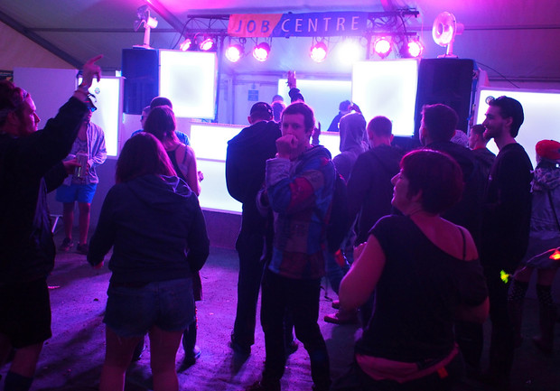 The madness of the Job Centre at Boomtown Fair 2015