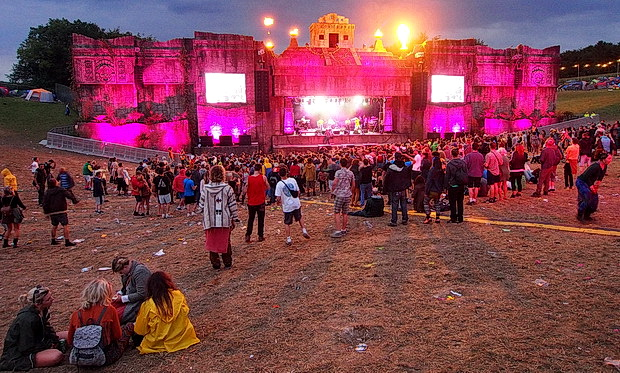 The majesty of the Lion's Den reggae stage at Boomtown Fair 2015
