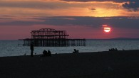 I think it's fair to say that I'm a bit obsessed with the melancholy dereliction of Brighton's West Pier, a beautiful Victorian pleasure pier whichis slowly rusting into the sea.