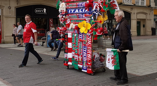 Scarves, flags, graffiti and stickers - Cardiff street photos