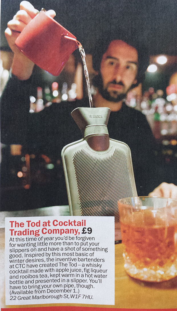 Peak hipster artisan cocktail douchbaggery achieved in London