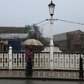 Tonbridge in the rain: umbrellas, street views and an abandoned shopping trolley, Jan 2016