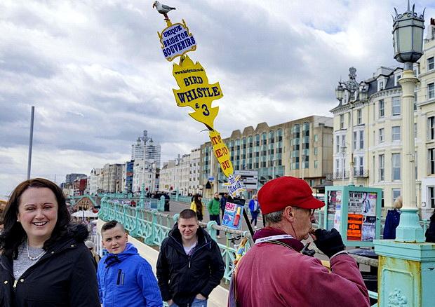 Brighton photos: bird whistle man, moody skies, the Monochrome Set and a late bar