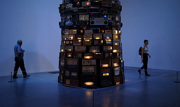 A tower of 800 whispering radios: Cildo Meireles Babel at the Tate Modern, London