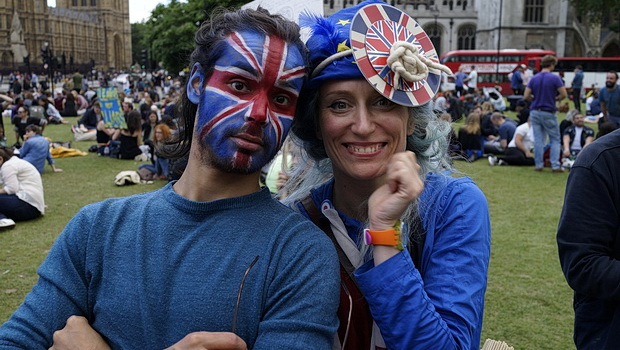 In photos: Anti Brexit campaigners gather in Parliament Square, London