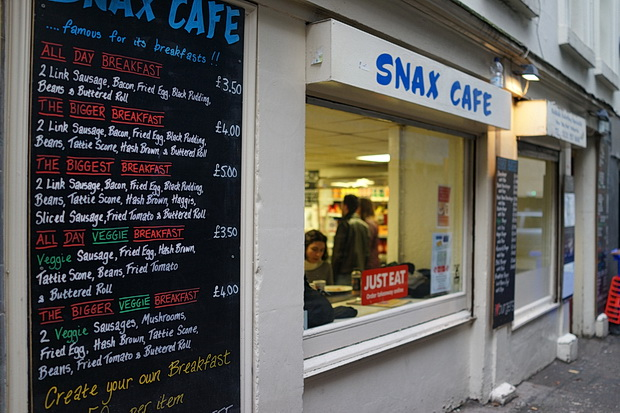 Places I love: the cheap, cheerful and friendly Snax Cafe, Edinburgh
