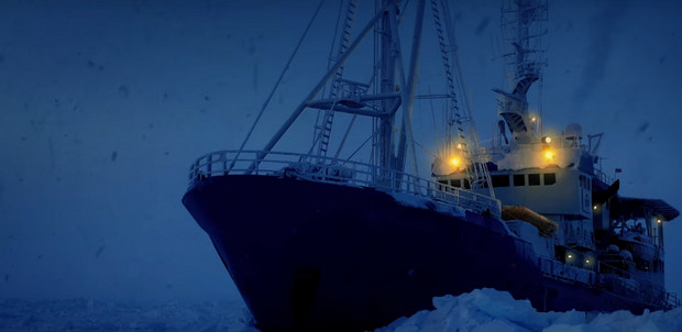 Relax to the sounds of a frozen icebreaker in the Arctic
