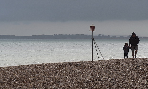 Bognor photos: dark clouds, windy scenes and a knackered old pier