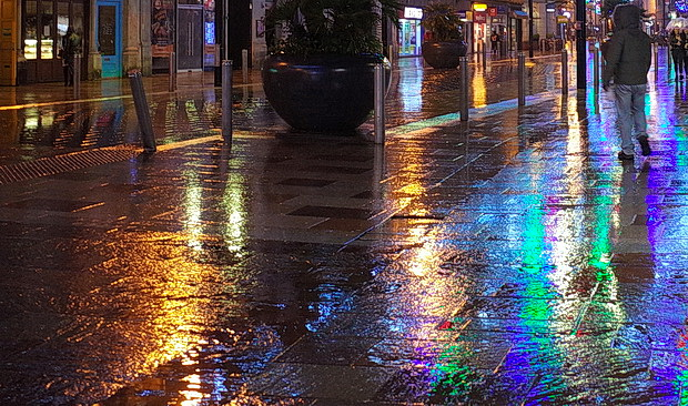 Christmas lights in the November rain, drag queen karaoke and street views - a trip to Cardiff in photos