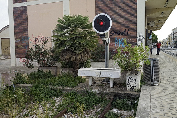 In photos: Alghero railway station terminus, Sardinia, Italy