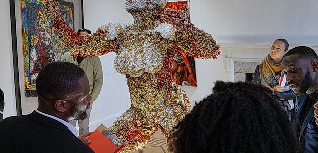 On display until the 6th Jan 2019 isAthi-Patra Ruga's 'Of Gods, Rainbows and Omissions,' a work of sculpture, photography, video and embroidery.