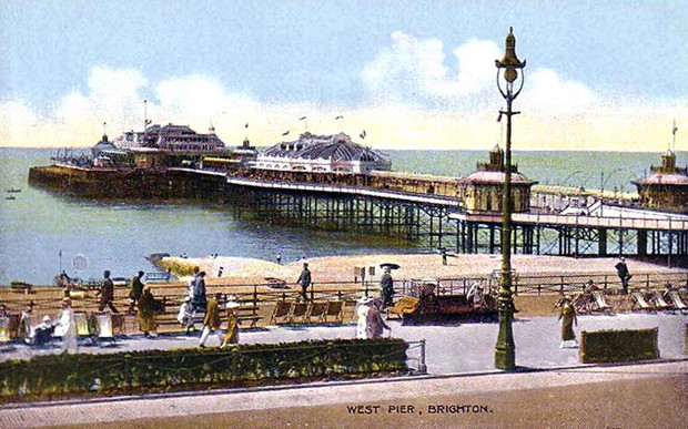 Archive postcard views of the West Pier