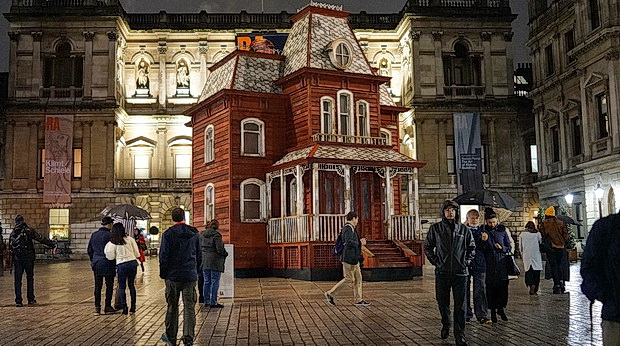 PsychoBarn installation by Cornelia Parker at the Royal Academy, London, Nov 2018