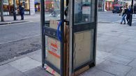 I've noticed this cardboard-packed phonebox off Oxford Street a couple of times in the past, and it's always mystified me.