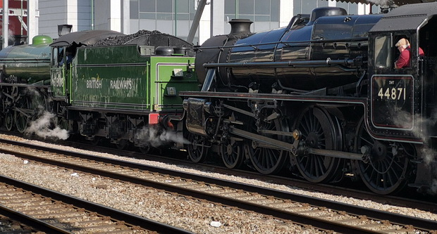 The unexpected joy of finding two steam engines at Cardiff Central station