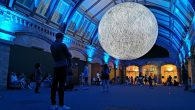 On show at the Natural History Museum until January 5th 2020 is this spectacular, illuminated replica of the Moon, with a diameter of 7 metres.