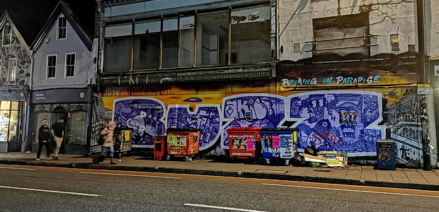 Bristol photos: street art, station, pubs and rain
