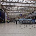 The eerie emptiness of Waterloo station in rush hour lockdown, 5.30pm, Thurs 4th June, 2020