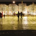Christmas lights, festive installations and street market at Coal Drops Yard, Kings Cross, December 2020