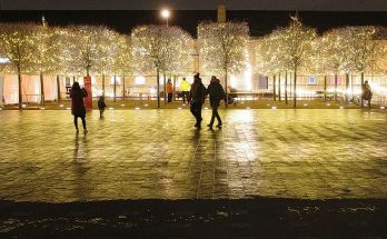 Christmas lights, festive installations and street market at Coal Drops Yard, Kings Cross, December 2020