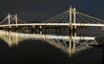 In photos: The fragile beauty of the Albert Bridge at night, south west London