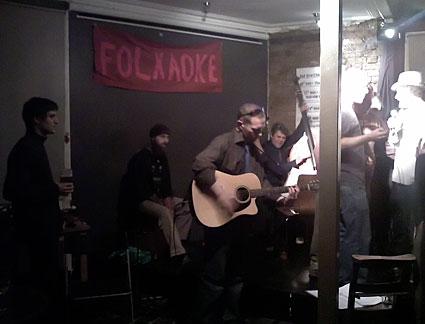 Folkaoke at the Railway, Tulse Hill