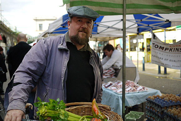 Brixton Farmers Market opens for business, Brixton Station Road, Brixton, Sept 2009