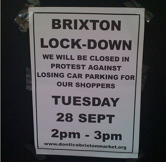 Brixton Market lockdown - traders protest against proposed car park closure