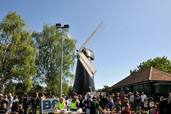 Brixton Windmill reopening procession and celebration, Blenheim Gardens, London SW2, 2nd May 2011